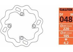 """Disco de freno trasero """"Wave"""" GALFER Artic Cat DVX400 03-08"""