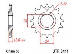 Piñon JT Brp DS650 00-05, DS650 Baja 04-04, DS650 X 04-07