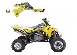 Kit Adhesivos Amarillo TRIBAL SKULL 2 Blackbird Racing Suzuki LT-R450 06-15