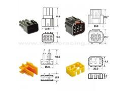 5 Juegos de conectores 6 vias Series 090 FRKW tipo original Ø0'5 mm² / 0'85 mm²