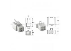 5 Juegos de conectores 4 vias 110 ML tipo original Ø0,5mm²/0,85mm²