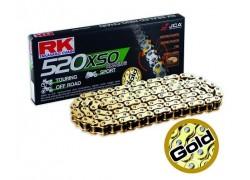 Cadena (520) reforzada con retenes RK XSO Gold de 98 Pasos Polaris 450 Outlaw MXR 08-10, 525 Outlaw S 08-10