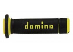 """Puños """"Quad/Atv"""" Negro/Amarillo Domino"""