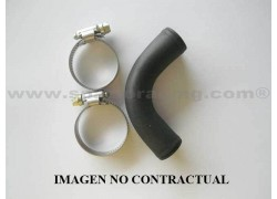Codo de unión aluminio 90°/ Ø21mm./largo 115mm. para manguitos de radiador