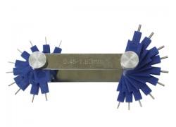 Calibrador (galgas) de Chiclés de 0,45-1,5 mm.