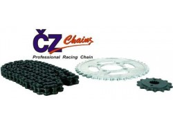 Kit de transmisión con cadena reforzada con retenes CZ Yamaha YFA125 Breeze 91-03, YFM125 Grizzly 04-13