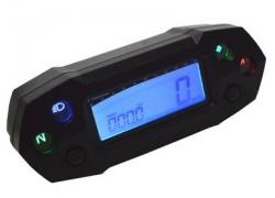 BA018B00 Tacómetro DB-01R KOSO Digital, universal, Speed, RPM, ODO, TRIP, TIME, FUEL,12x4.5x3.5cm, iluminado azul, CE.