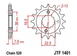 Piñon Suzuki LT-R450 06-11