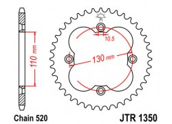 Corona Honda TRX450 R 04-14, TRX450 ER 06-14