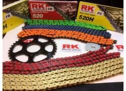 Kit de transmisión con cadena de Colores reforzada con retenes Artic Cat DVX400 03-06, Kawasaki KFX400 03-06, Suzuki LT-Z400 03-08