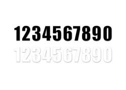 Números Negros para dorsales MX2 MOTION