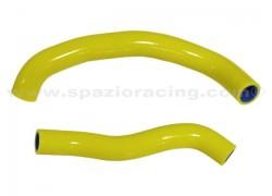 Kit tubos radiador silicona Amarillo Arctic Cat DVX400 03-06, Kawasaki KFX400 03-07, Suzuki LT-Z400 03-08