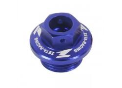 Tapón llenado aceite motor Azul ZETA RACING Honda TRX450 R/RX 04-08, Yamaha YFZ450 04-09
