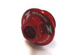 Tapón llenado aceite motor Rojo ZETA RACING Suzuki LT-R450 06-09