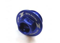 Tapón llenado aceite motor Azul ZETA RACING Kawasaki KFX450R 08-09