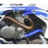 Kit tubos radiador silicona color Azul NEX PERFORMANCE motados en un SUZUKI LT-R50.