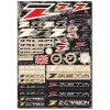 ZE50-0101 Hoja de adhesivos ZETA RACING