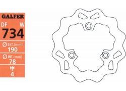 "Disco de freno trasero ""Wave"" GALFER Suzuki LT-R450 06-11"