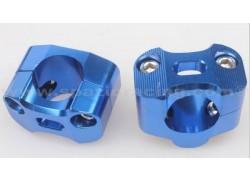 Torretas universales (22mm.) para manillar (28mm.) Azules SP RACING