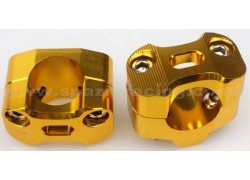 Torretas universales (22mm.) para manillar (28mm.) Doradas SP RACING
