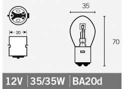 Bombilla 12V 35/35W