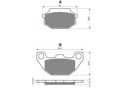 Pastillas de freno trasero Kymco Maxxer 90 02-05, Maxxer 150 03-06, MXU150 05-14
