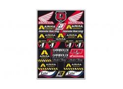 Hoja de adhesivos Honda Gariboldi 5076G BLACKBIRD