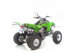 Silencioso Homologado X3 LEOVINCE Kawasaki KFX400 03-06, Suzuki LT-Z400 03-08