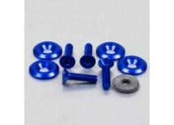 Pack 4 tornillos y arandelas avellanados M6x25mm. Azul PRO-BOLT