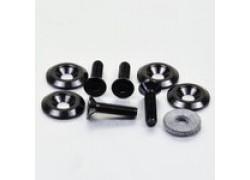 Pack 4 tornillos y arandelas avellanados M6x25mm. Negro PRO-BOLT