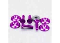 Pack 4 tornillos y arandelas avellanados M6x25mm. Violeta PRO-BOLT