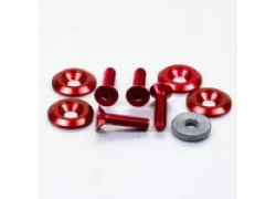 Pack 4 tornillos y arandelas avellanados M6x25mm. Rojo PRO-BOLT