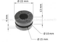 Silentblocks radiador de aceite Honda TRX400 EX 99-08, TRX400 FA 04-07, TRX400 FGA 04-07, TRX400 FW 95-03, TRX450 ES 98-01, TRX450 FE 02-04, TRX450 FM 02-04