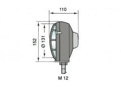 Dimensiones del faro universal Homologado 540 RINDER