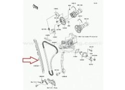 Guia delantera cadena de distribución Kawasaki KFX450R 08-14