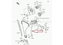 Guia trasera cadena de distribución Kawasaki KFX450R 08-14
