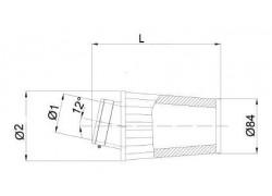 Filtro de aire universal cónico Ø65mm x 128mm. BMC
