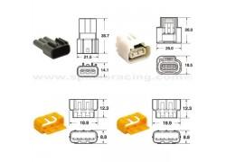 5 Juegos de conectores 3 vias Series 090 FRKW tipo original Ø0'5 mm² / 0'85 mm²