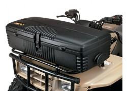 Detalle de la maleta rigida KOLPIN montada en la parrilla delantera