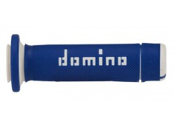 "Puños ""Quad/Atv"" Azul/Blanco Domino"