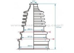 Fuelle palier univesal 20x60/73/85x85/105/127