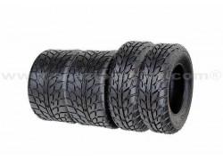 Combo 4 Neumáticos Asfalto A021 21x7-10 y 20x10-9 SUN-F