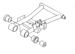 Kit 4 casquillos trapecio/buje trasero inferior (5632291/5438902) Polaris