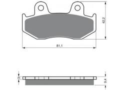 Pastillas de freno trasero Sinterizadas Yamaha YFZ450 12-14, YFZ450R 11-14, YFM700 Raptor 13-16
