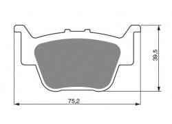 Pastillas de freno trasero Sinterizadas Honda TRX420 AT 09-13, TRX450R 04-13, TRX650 03-05, TRX680 06-13