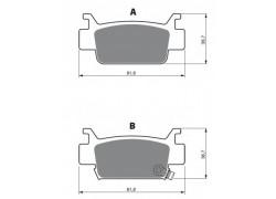 Pastillas de freno delantero Sinterizadas Honda TRX500 Rubicon 05-13, TRX680 Rincon 06-13
