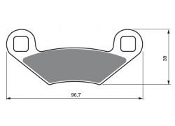 Pastillas de freno delantero Sinterizadas Polaris 300 Xpress 96-97, 300 Xpress (2x4) 98-00, 300 Xplorer (4x4) 96-00, 330 ATP (4x4) 04-05, 325 Magnum 00-02, 325 Xpedition 2000