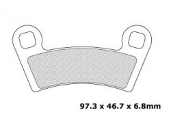 Pastilla freno delantero Polaris 450 Outlaw S 08-10, 450 Outlaw MXR 08-10, 525 Outlaw IRS 08-10, 800 Ranger 08-10, RZR800 08-14