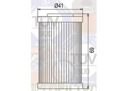 Filtro de aceite (largo) KTM 450 XC ATV 08-11, 525 XC ATV 06-11
