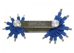 Calibrador (galgas) de Chiclés de 1,5-3,0 mm. EMGO